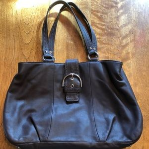 Coach F19248 Brown Leather Soho Leather Carryall